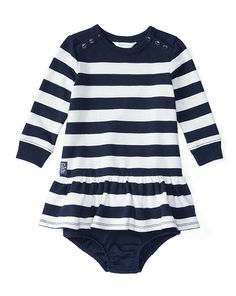 Striped Terry Dress & Bloomer - Baby Girl Dresses & Rompers…