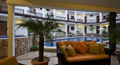 $52 This colonial-style hotel is located next Las Madres Park, 5 minutes' drive from Managua's Tiscapa Lake.