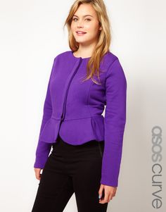 Who says big girls can't wear peplums? Pair with a skinny jean or pencil skirt for curves-like-whoa.
