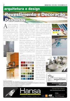11° Publicação Jornal bom dia – Matéria -Revestimento e Decoração, Pastilhas  11 -11-11