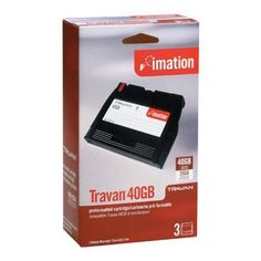 IMATION travan 20gb/40gb tape cartridge 3-pk by Imation. $178.57. Technical Information:Product Description Imation Travan x 3 - 20 GB - storage media Type Storage media - Travan Media Included Qty 3 Native Capacity 20 GB Compressed Capacity 40 GB Tape Length 228.6 m Tape Record Formats TR-7