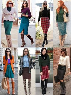 Outfits with Knee High Boots | What to Wear with Knee-high Boots this Fall 2013