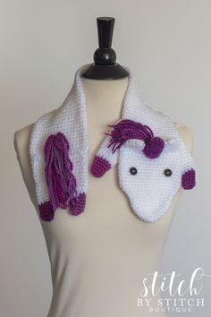 Free Crochet Unicorn Fever Scarf Pattern