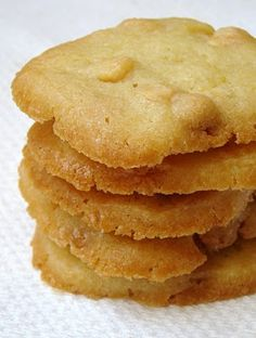 Lemon-White Chocolate Butter Cookies: These have a great flavor. I preferred them as drop cookies instead of slice and bake.