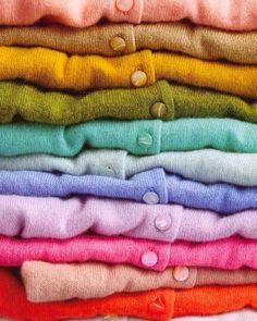 Love Cardigans! Colours of the rainbow!!
