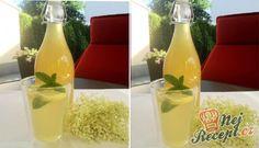 Bezový sirup - základní recept | NejRecept.cz Food And Drink, Homemade, Bottle, Drinks, Med, Drink, Kitchens, Lemon, Juice