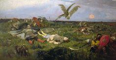 Viktor M. Vasnetsov, After Igor Svyatoslavich's fighting with the Polovtsy, 1880.
