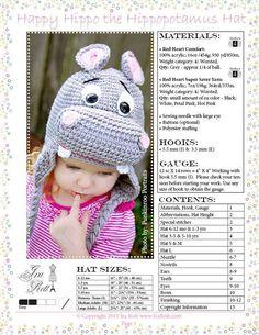 Crochet hippo hat