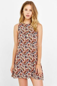 Glamorous Boho Print Shift Dress