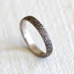 Fern ring - sterling silver botanical ring