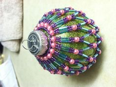 Beaded Ornament Cover -One of my favorite beaded covers to make.