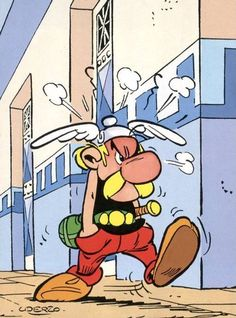 Asterix - René Goscinny e Albert Uderzo Bd Comics, Funny Comics, Asterix E Obelix, Albert Uderzo, Tv Movie, Comic Art, Comic Books, Humor Grafico, Weird Pictures