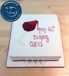 Wine cake, made by The Foxy Cake Co!