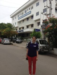 Jenny Keys went to Hyderabad as part of her placement working with midwives in the community #Cavell #Nursing #Student #Placement