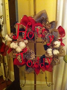 Hotty Toddy Ole Miss wreath on Etsy, $35.00