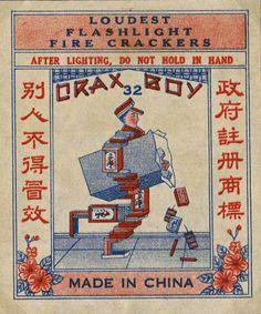 19th century vintage fireworks packaging