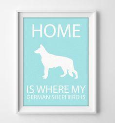 8x10 German Shepherd Art Illustrated Dog Art German by #pigknit, $7.50
