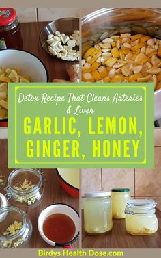 This natural remedy with garlic, lemon, ginger, and honey, which plays a role in detoxifying the body, is a traditional recipe used for centuries to treat many conditions.