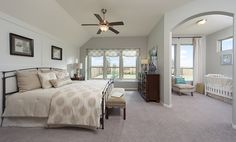 Plantation Homes in Summer Lakes | master bedroom with adjoining nursery