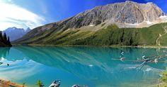 Sherbrooke Lake in Yoho National Park, British Columbia