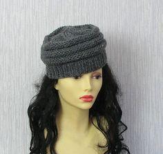 Womens Hats Trendy. Knit Slouchy Beanie. Hand by AlbadoFashion