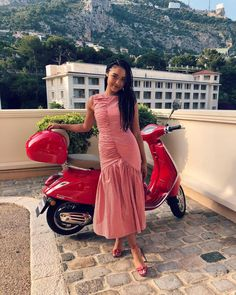 """3e7b3a4f8c1 Aisha Dee on Instagram  """"  i do not know who owns this vespa    walking on  cobblestones in heels is a learned skill"""""""