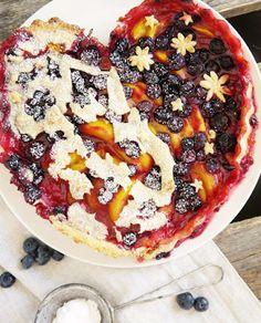 Pfirsich-Heidelbeer Pie VEGAN *Hummelsüß*