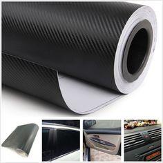 3D Car Interior Accessories Interior Panel Black Carbon Fiber Vinyl Wrap Sticker 3876393928750 | eBay