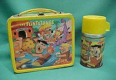 The Flintstones Vintage Lunch Box & Thermos (1964 Aladdin, Hanna Barbera, Antique Metal Lunchbox)