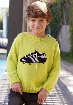 Model / Pattern of Sweater of Kids of Spring / Summer from KATIA Embroidery Stem Stitch, Summer Kids, Spring Summer, Summer Books, Stockinette, Knitting For Kids, Pulls, Alabama, Men Sweater