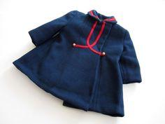 Vintage toddler girl's wool coat, 1950's.