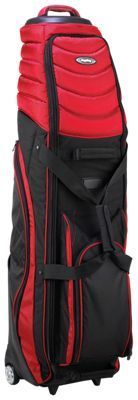 BagBoy T-2000 Wheeled Travel Cover for Golf Bag - Black/Red