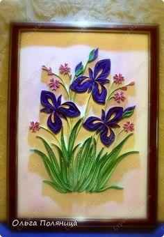 Картина панно рисунок Квиллинг Квиллинг Летние цветы Бумага фото 7