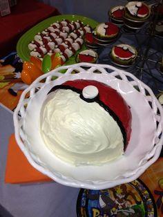 Pokeball cake at a Pokemon Party #pokemon #partycake Pokemon Party, Pokemon Birthday, Pokeball Cake, Boy Birthday Parties, Birthday Ideas, Birthday Cake, 10th Birthday, Party Cakes, Party Party