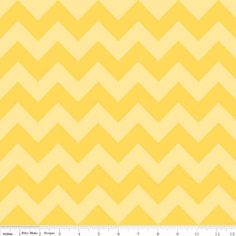 In Stock now-Medium Chevron Cotton- Tone on Tone Yellow  by Riley Blake- 1 yard. $8.50, via Etsy.