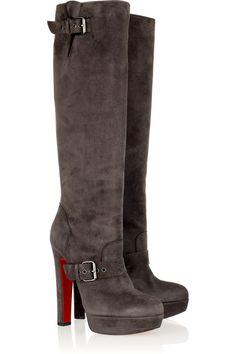 Christian Louboutin Harletty 140 suede knee boots NET-A-PORTER.COM