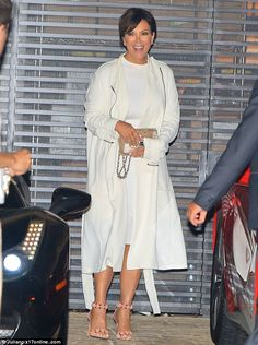 Fine dining: Kris Jenner was seen going out to dinner at Nobu in Malibu, California, on Tuesday evening