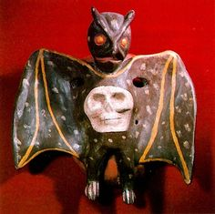 Donald Cordry: Bat mask (from the book Mexican Masks, 1980)