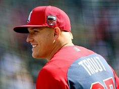Mike Trout, Yasiel Puig are baseball's most exciting players At the All-Star break, you can debate which players should be the major award winners. You can also debate which players are the most fun to watch. Who do you consider the most exciti Mike Trout, Angels Baseball, Baseball Cards, Hot Baseball Players, Yasiel Puig, No Crying In Baseball, Helmet Logo, Better Baseball, Dodgers