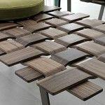 Table Belt maillage de bois par Colzani
