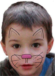 Kinder schminken: Katze