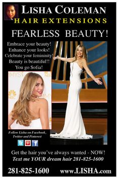 Stop Hating on Sofia!  Read the Hair Extensions Blog: http://hairextensionshouston.blogspot.com/2014/08/fearless-beauty-you-go-sofia.html www.Lisha.com for everything hair extensions! 281-825-1600 text your dream hair!