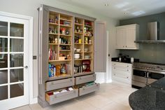 Superb freestanding pantry cabinet in Kitchen Contemporary with Paint For Kitchens With Oak Cabinets Ideas next to Kitchen Curtain Ideas alongside One Wall Kitchen and Kitchens