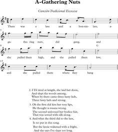 A-Gathering Nuts. Canción Tradicional Escocesa.