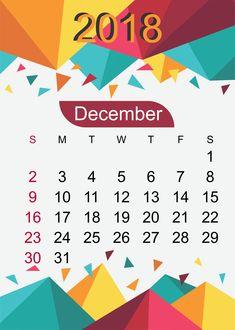44 Best December 2018 Calendar Templates Images December Blank