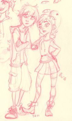 Big Hero 6 and Wreck-It Ralph crossover! Vanellope, Hiro Hamada. Hiro and Vanellope by StitchxToothless on DeviantArt Older Vanellope! Viro!