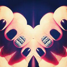 eggplant + tribal   #nails @xtina4yu
