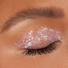 Add that wow factor to your eyes with glitter eyeshadow from the Diamond Dew collection. Purchase this liquid eyeshadow in rainbow iridescent at Lime Crime! Glitter Makeup Looks, Blue Makeup, Skin Makeup, Iridescent Eyeshadow, Liquid Glitter Eyeshadow, Eyeshadow Tumblr, Brown Eyeshadow Looks, Lime Crime Lipstick, Kawaii Makeup