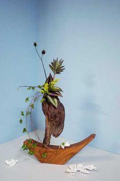 流木の花器 2005-11