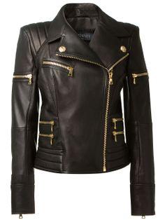 Balmain Leather Biker Jacket..... far fetched..BellaDonna